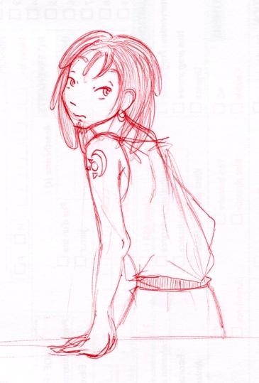 J'aime bien dessiner en rouge